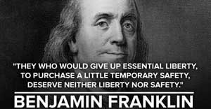 Benjamin Franklin quote about privacy and security